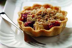 Bradley apple, raspberry and almond crumble tart