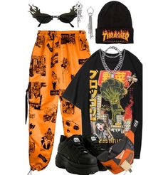 Cute Swag Outfits, Cute Comfy Outfits, Edgy Outfits, Retro Outfits, Grunge Outfits, Looks Hip Hop, Paris Mode, Kpop Fashion Outfits, Polyvore Outfits