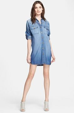 90c27b97c52 Current Elliott  The Lily  Denim Shirtdress available at  Nordstrom Denim  Shirt Dress