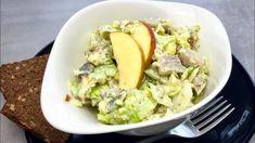 Matjes-Apfel-Eisbergsalat - Rezept von Thermiliscious Potato Salad, Potatoes, Ethnic Recipes, Dressings, Youtube, Food, Apple, Meal, Potato
