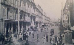 Calle del 5 de Mayo al fondo el Teatro Nacional, antiguo Santa Anna, ca 1895
