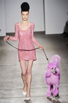 Issac M goes Pink Poodle in his Fall '11