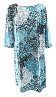 MSK NEW Blue Black White Women's 14W Plus Printed Sequin Sheath Dress $69