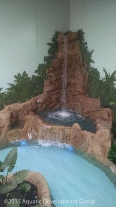 ICA's EPS foam was used to create this water fall as part of the Lazy River landscape at Camelback's new Aquatopia indoor waterpark.