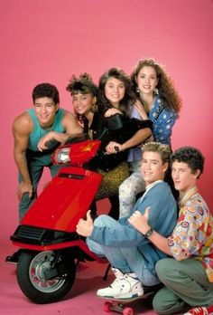 Slater, Lisa, Kelly, Jessie, Zack, and Screech
