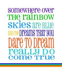 Somewhere Over The Rainbow Baby Boys Nursery by RockPaperPrints, $12.00