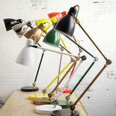 Love industrial lighting...this one is available in tons of colors and only $49! @west elm
