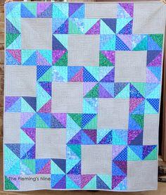 Falling Stars, Quilt Pattern, PDF Quilt Pattern, Modern, Star, HST Quilt, Baby…