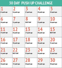 30 Day Push Up Challenge - a tougher version