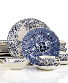 Dinnerware Devonu0027s Cottage 20-Piece Set - Casual Dinnerware - Dining  sc 1 st  Pinterest & Porcelain dinnerware lends an instant elegance to any meal ...