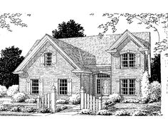 Eplans French Country House Plan - Four Bedroom French Country - 2077 Square Feet and 4 Bedrooms(s) from Eplans - House Plan Code HWEPL75081