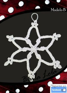 copito de nieve hecho a mano Symbols, Peace, Snowflakes, Christmas Ornaments, Hand Made, Crocheting, Icons, Glyphs, World