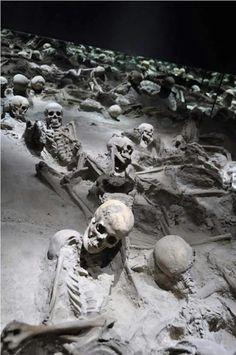 Petrified bodies of Pompeii