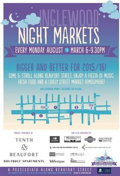 Inglewood Night Markets are weekly night markets taking place on Mondays, providing visitors a festival market atmosphere. Camping Theme, Space Gallery, Monday Night, Work Travel, Perth, How To Become, Art Spaces, Stalls, Marketing