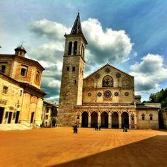 Spoleto cathedral. Photo by @kenkaminesky.