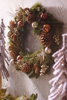 The Gilded Pinecone Wreath from Pier 1 is like your own enchanted forest