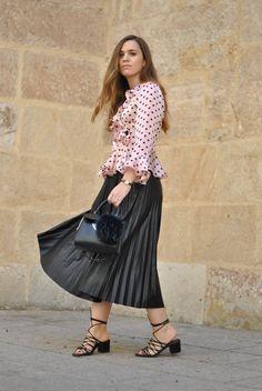Style in Madrid con falda de Ralph Lauren en Primeriti