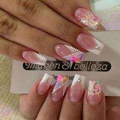 Search for nails at SHEIN. Classy Nail Designs, Toe Nail Designs, Acrylic Nail Designs, Crazy Nails, Fancy Nails, Love Nails, Rainbow Nails, Neon Nails, Pink Nails