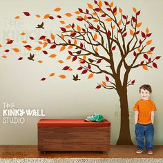 Tree Wall Decal Wall sticker - Children wall decal  KK128. $128,00, via Etsy.