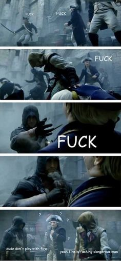 I loved that part xD Assasin Creed Unity, Assassins Creed Quotes, Assassins Creed Odyssey, All Assassin's Creed, Deutsche Girls, Assasins Cred, Assassin's Creed Wallpaper, Arno Dorian, Jokes