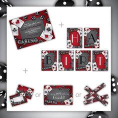Casino Party Set . PRINTABLE . Gamble Love by BlackCherryPrintable