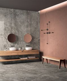 Wall/floor tiles Res Art by Fondovalle: solid colours and high-texture