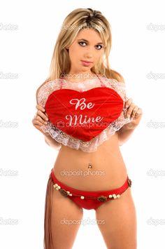 Valentine's Day Instagram Sexy Girls | Valentine Girl - Stock Image Love You Forever Quotes, Red Bikini, Happy Valentines Day, Bikinis, Swimwear, Best Gifts, Sexy Women, Stock Photos, Lady