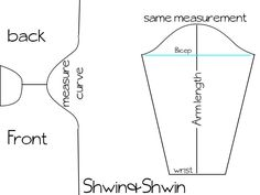 How To add sleeves to any pattern    Shwin&Shwin