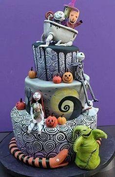 This is Halloween, halloween, halloween..... Nightmare before Christmas! Love it! Cake!