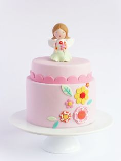 Peaceofcake ♥ Sweet Design: Flowers and Fairies Cake • Bolo Flores e Fadas