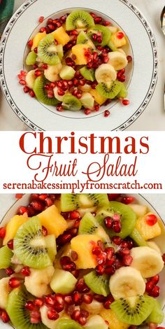Fruit Salad Christmas Fruit Salad is a favorite in our house over the holidays and is filled with winter fruit!Christmas Fruit Salad Christmas Fruit Salad is a favorite in our house over the holidays and is filled with winter fruit! Christmas Morning Breakfast, Christmas Brunch, Christmas Cooking, Christmas Recipes, Christmas Dinner Sides, Christmas Holidays, Winter Holidays, Christmas Dinners, Christmas Foods