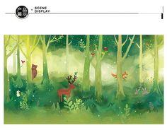 Babykamer Behang Groen : Gratis verzending cartoon behang groen bos kinderkamer behang non