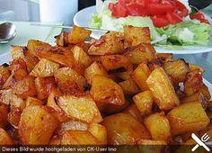 Knusprige Honig - Kartoffeln