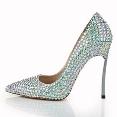 Woman Shoe Pointed Toe Sliver Pumps Wedding Shoes Large Size Discount For Weekend   http://www.aliexpress.com/item/Woman-Shoe-Pointed-Toe-Sliver-Euramerican-Style-Hollow-Out-Rhinestone-Patent-Leather-Shallow-Mouth-Shoes-Iron/2043481167.html