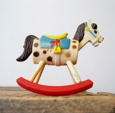 Vintage Collectible Wilton Rocking Horse Cake Topper by Suite22
