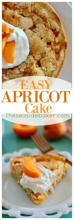 Custard like cake with summer's finest fresh roasted apricots and caramelized sugar topping