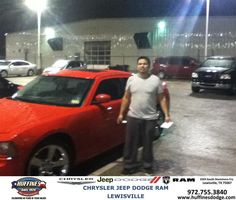 #HappyAnniversary to Isaias Sanchez on your 2008 #Dodge #Charger from  Joe Koubek at Huffines Chrysler Jeep Dodge Ram Lewisville!