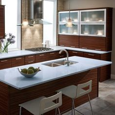 IceStone Installations - contemporary - kitchen - new york - Recycled glass countertops Recycled Glass Countertops, Granite Countertops Colors, Kitchen Countertops, Kitchen Cabinets, Diy Kitchen Decor, Home Decor, Kitchen Ideas, Kitchen Designs, Kitchen New York