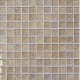 "Found it at Wayfair - Ice Crackle 1"" x 1"" Glass Glossy Mosaic in Cream"