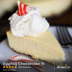 "Eggnog Cheesecake III | ""This was amazing! Silky smooth and so creamy! Made this for work and it lasted about 30 minutes. Now, one for Christmas."""