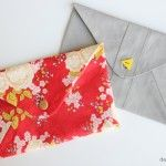 a buttoned and trimmed envelope clutch! - see kate sew