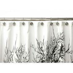 All sheer curtains and my black tree silhouette shower curtain were bought at Jysk for reasonable prices! I also have a lot of their baskets for holding loose parts, and drawing items! Tree Shower Curtains, Sheer Curtains, Black Tree, Tree Silhouette, My Furniture, Contemporary, Modern Shower, Interior, Bedroom Ideas