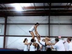 Cheer Pyramid to all I do is win Cool Cheer Stunts, Cheer Moves, Cheer Routines, Cheer Camp, Cheer Coaches, Cheer Pyramids, High School Cheerleading, Varsity Cheer, Cheer Practice