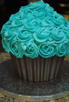 Giant Cupcake with chocolate liner!