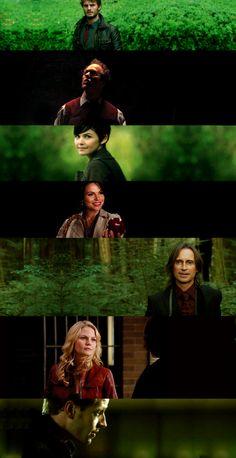 Once upon a time's: Graham, Dr. Hopper, Mary Margaret, Regina, Mr. Gold, Emma, & David.