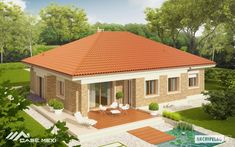 Picture of Eco-friendly Contemporary House Plan One Level House Plans, Modern House Floor Plans, Modern Bungalow House, My House Plans, Bungalow House Plans, Contemporary House Plans, Architect Design House, Architectural Design House Plans, Philippines House Design