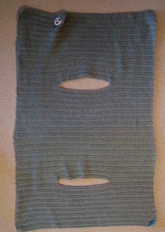 Joyce Lives Here: Instructions for Crochet Wrap Vest, free pattern, #haken, gratis patroon (Engels), omslagvest, omslagdoek met armsgaten, haakpatroon