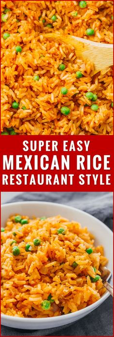 This mildly spicy Mexican rice is easily cooked using a pan on the stove, and has lime, onion, and garlic flavors. recipe, easy, authentic, restaurant style, healthy, quick, homemade, best, how to make mexican rice, for a crowd, vegetarian, with vegetables, peas, bowl, skillet, simple, oven, traditional, seasoning, white rice, tomato paste, bake, dishes, fluffy, skinny, real, spicy, meals, clean, gluten free, burrito, dinner, cilantro, leftover, with veggies, with peas, fast, for...