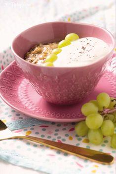 Pudding Oats - Der trendige Haferflocken-Pudding – Knusprig & Fein Pudding Oats, Brunch, Eat Smart, Smoothies, Panna Cotta, Oatmeal, Clean Eating, Ethnic Recipes, Desserts