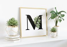 Initial Letters, Typography Prints, Friend Birthday, Initials, Colours, Wall Art, Frame, Floral, Handmade